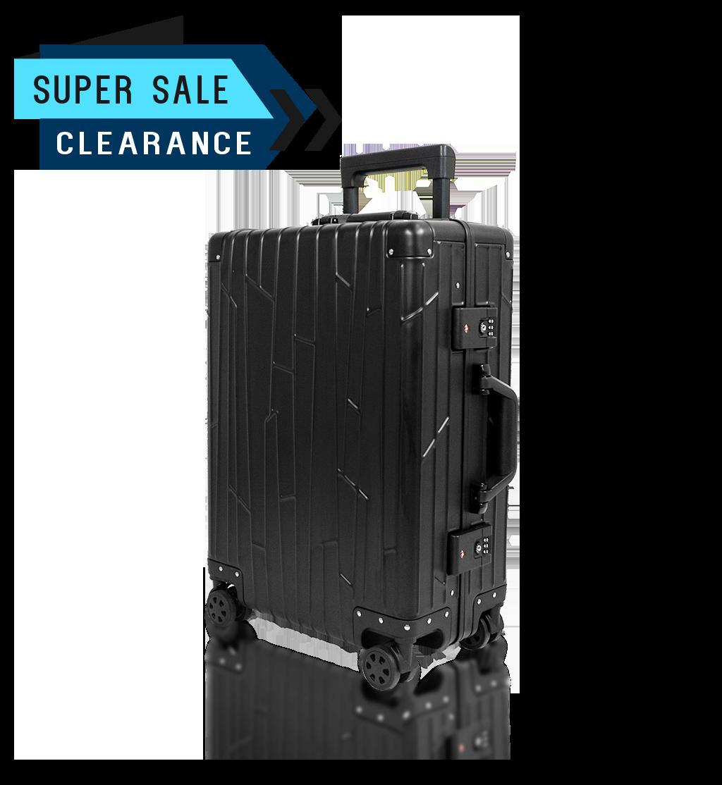 Cabin Trolley KOH-001W schwarz aluminium suitcase gundel cabin luggage tsa-locks bware sale