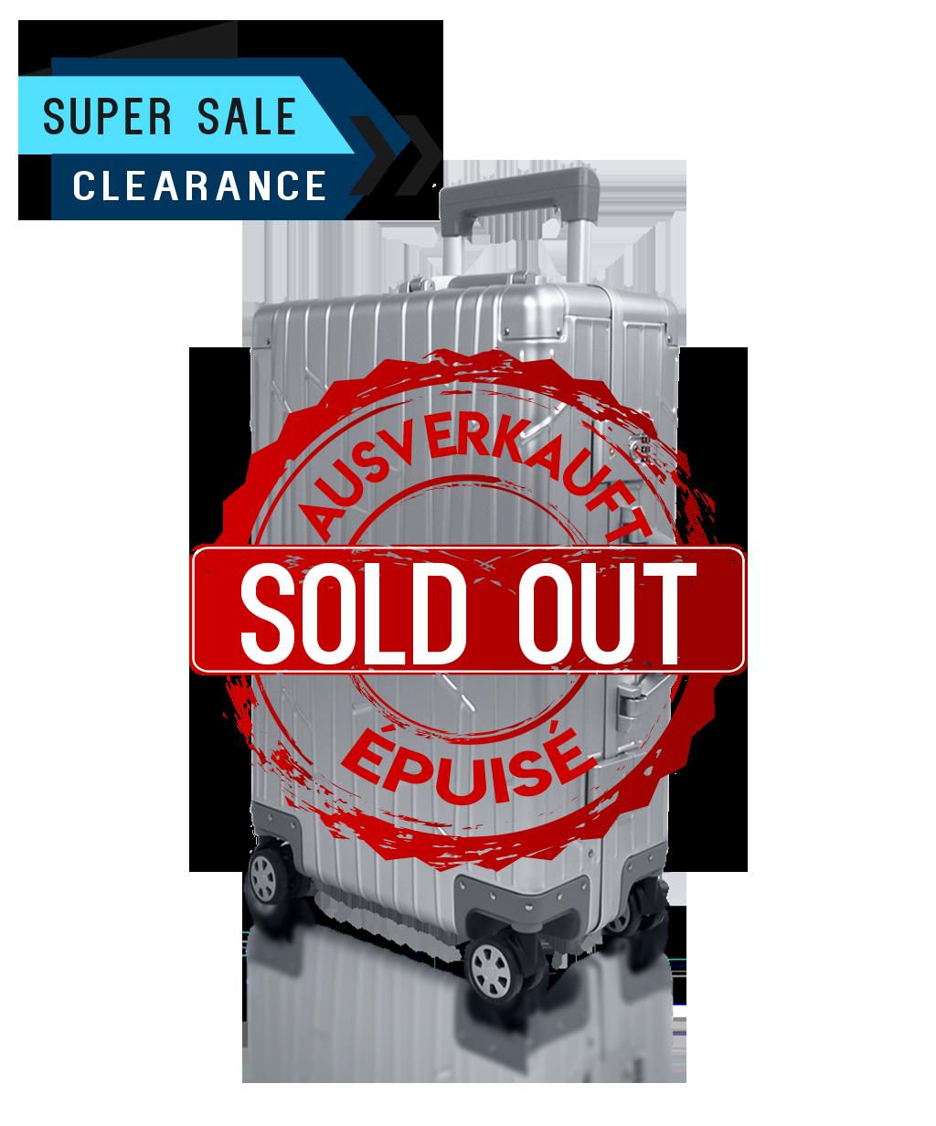 Check-in KOM-001E silber aluminium suitcase gundel checked luggage tsa-locks soldout bware sale