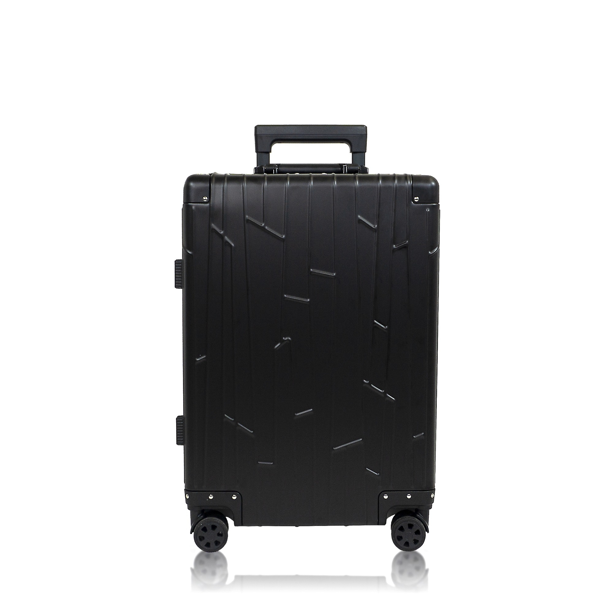 koffer handgep ck aluminium schwarz gundel reisekoffer. Black Bedroom Furniture Sets. Home Design Ideas